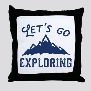 Let's Go Exploring Throw Pillow